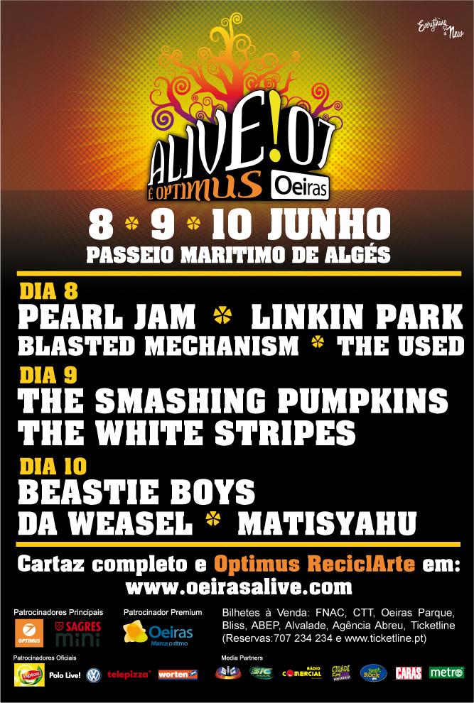 Pearl Jam Tour 2020 >> Ediciones anteriores NOS Alive   festis
