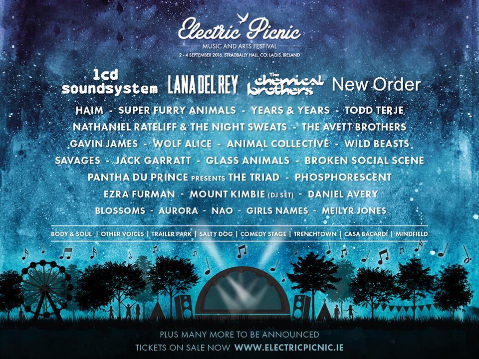Primera ronda de confirmaciones del Electric Picnic 2016